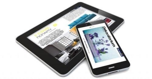 Журнал «Dekoratorium» у мобільній версії