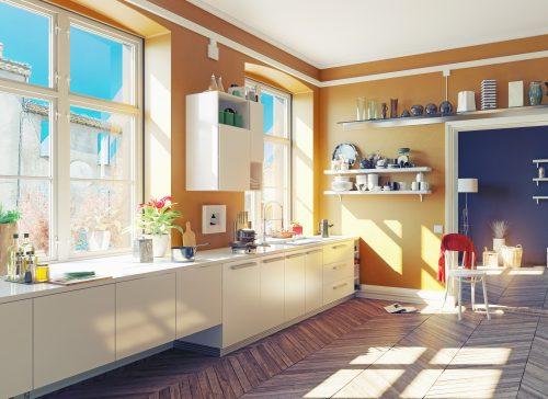 Як використати пусту стіну в кухні?