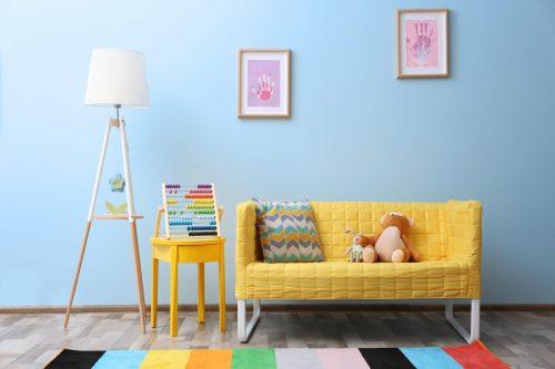 Дитяча кімната у голубій тональності!